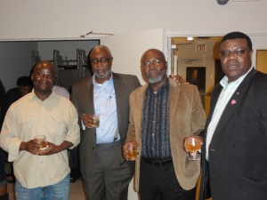 At the Farewell, Dr Mugwagwa (second from left) poses for a photo with ZDNNA members.
