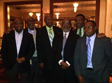 Zimbabwe Finance Minister, Patrick Chinamasa (third from left) with members of the ZDNNA team in Washington, DC, November, 2013.